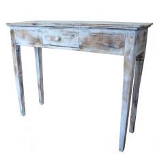 Console 1 tiroir ZENIA en bois exotique 100 cm