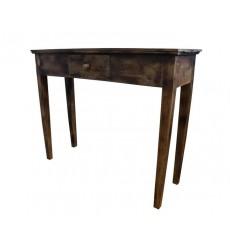 Console 1 tiroir ZENIA en bois exotique 100 cm foncé