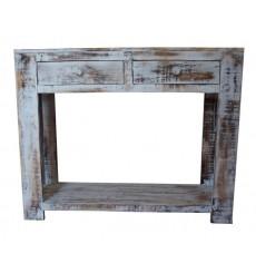 Console en bois 100 cm avec 2 tiroirs MARPHA