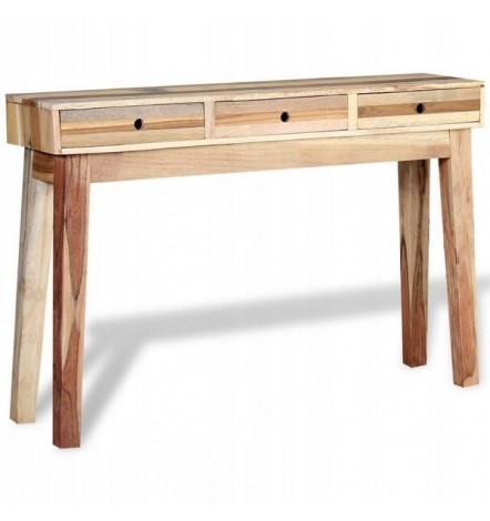 Console 3 tiroirs en bois de récup MARCIA 120 cm