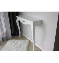 Console VENUS 88 cm blanc laqué