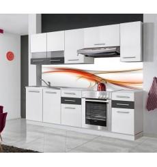 Ensemble cuisine RICHIE 220 cm blanc et gris