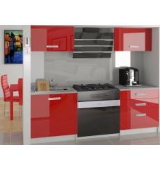 HALONA Cocina laqué roja 120 cm