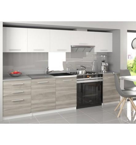Ensemble cuisine ADRIEL Blanc gris 240 cm