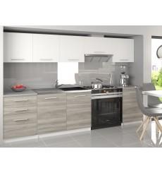 CONJUNTO de cocina blanco gris ADRIEL 240 cm