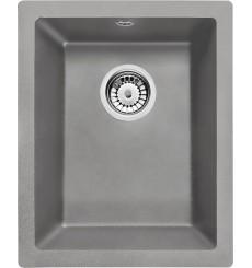 Évier cuisine MOYEL gris sous plan  1 bac - granit - 380 x 460 x 190 mm