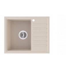 Évier cuisine SHAWN à encastrer  1 bac + 1 égouttoir - granit - 55,5 x 45,5 cm