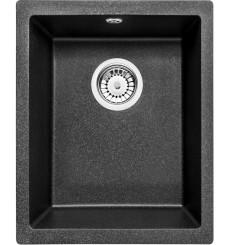 Évier cuisine MOYEL noir sous plan  1 bac - granit - 380 x 460 x 190 mm