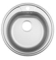 Evier cuisine rond - INOX à encastrer WARA 1 bac 500 mm