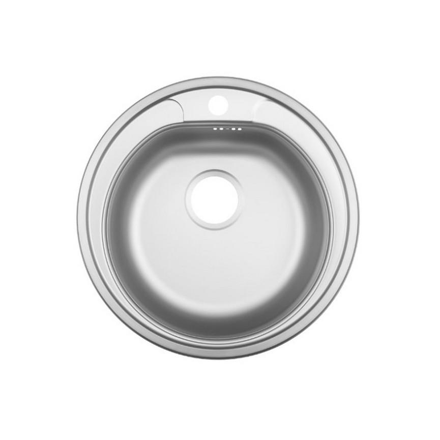 Evier Cuisine Rond Inox A Encastrer Wara 1 Bac 500 Mm