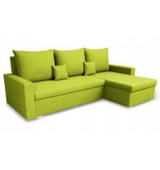 Canapé d'angle convertible réversible VARIA vert 223x136 cm