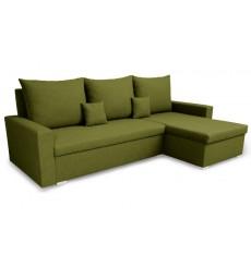 Canapé d'angle convertible et réversible LUNA 230x136 olive