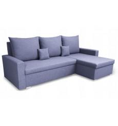 Canapé d'angle convertible et réversible LUNA 230x136 bleu