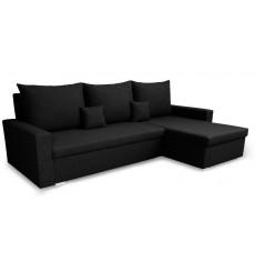 Canapé d'angle convertible et réversible LUNA 230x136 noir