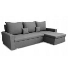 Canapé d'angle convertible et réversible LUNA 230x136 gris