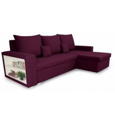 Canapé d'angle convertible et réversible VINIO 230x134 cm violet
