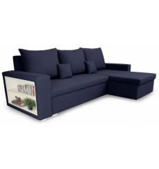 Canapé d'angle convertible et réversible VINIO 230x134 cm bleu