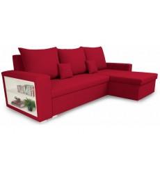 Canapé d'angle convertible et réversible VINIO 230x134 cm rouge
