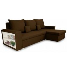 Canapé d'angle convertible et réversible VINIO 230x134 cm marron