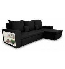 Canapé d'angle convertible et réversible VINIO 230x134 cm noir