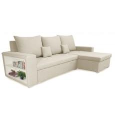 Canapé d'angle convertible et réversible VINIO 230x134 cm beige