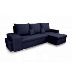Canapé d'angle convertible et réversible NAYA 239x134 cm bleu
