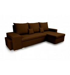 Canapé d'angle convertible et réversible NAYA 239x134 cm marron