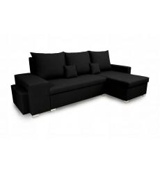 Canapé d'angle convertible et réversible NAYA 239x134 cm noir