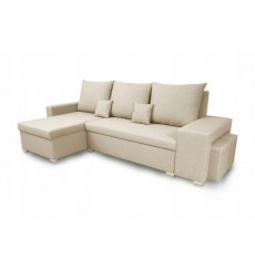 Canapé d'angle convertible et réversible NAYA 239x134 beige