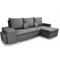 Canapé d'angle convertible et réversible NAYA 239x134 cm gris