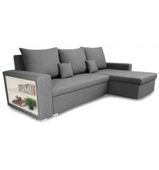 Canapé d'angle convertible et réversible VINIO 230x134 cm gris