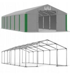 6x12 72m² tente/hangar de stockage, H. 3,09 m, porte 3,04x2,45m  toile PVC 530 g/m²