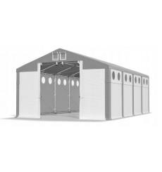 6x8 48 m² Hangar/tente, H. 4,09m, porte 2,77x3,42m, toile PVC de 600 g/m² anti-feu multi-size