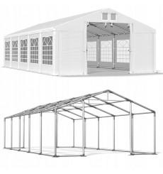 8x10 80 m² tente de jadin, H. 3,46m, porte  3.83x2.6 m, toile PVC de 600 g/m²