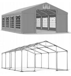 6x8 48 m² tente de jadin, H. 3,09m, porte 2,77x2,42m, toile PVC de 530 g/m²