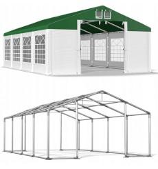5x8 40 m² tente de jardin, H. 2,91m, porte 2,33x2,31 m, toile PVC de 530 g/m²