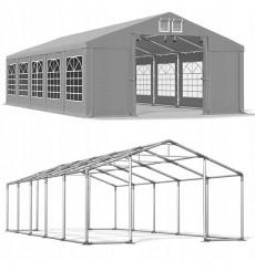 5x10 50 m² tente de jardin, H. 2,91m, porte 2,33x2,31 m, toile PVC de 530 g/m²