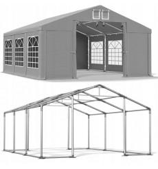 5x6 30 m² tente de jardin, H. 2,91m, porte 2,33x2,31 m, toile PVC de 530 g/m²