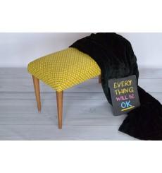 Banc, bout de lit jaune 80x42x30 cm