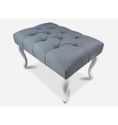 Banc, bout de lit capitonné gris 60x40x40 cm
