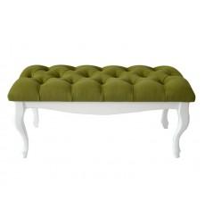 Banc, bout de lit  capitonné olive 90x43x40 cm