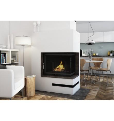 Insert cheminée à bois CELIA 18 kW 2 vitres version droite