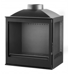 Insert cheminée à bois VILIA déflecteur automatique 15 kW 2 vitres version droite