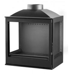 Insert cheminée à bois VILIA déflecteur automatique 15 kW 3 côtés vitrées
