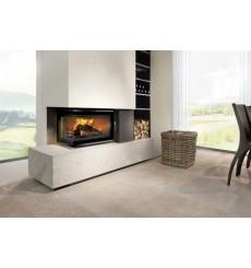 Insert cheminée à bois DOLORES 15 kW 2 vitres version gauche