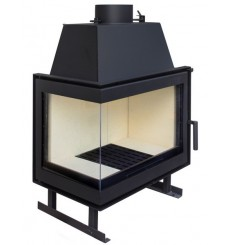 Insert cheminée à bois HELDA 17 kW 2 vitres version gauche