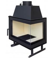 Insert cheminée à bois HELDA 17 kW 2 vitres version droite