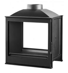 Insert cheminée à bois VILIA 15 kW vision sur 2 côtés