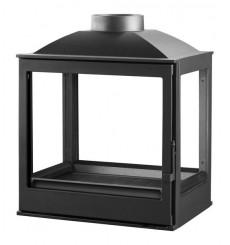 Insert cheminée à bois VILIA 15 kW vision sur 4 côtés