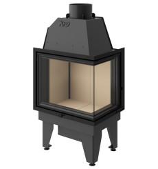 Insert de cheminée à bois LINE 15 kW 2 vitres versions droite
